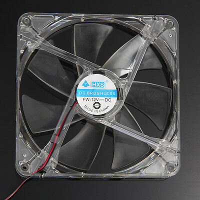 140mm 12V 4Pin LED Light CPU Cooling Fan Computer PC Case 14CM Heatsink Blue