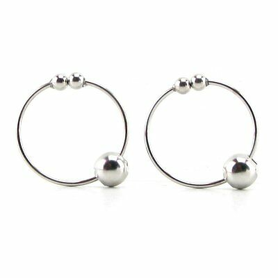 Non Piercing Nipple Bull Rings Silver Erotic Breast Body Jewelry