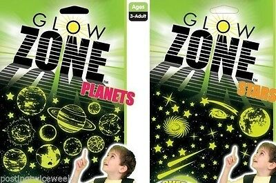 Colorific Glow in the Dark Sticker Packs (2) Stars  & Plants - FREE POSTAGE