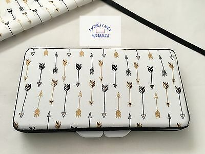 Black & Gold Arrows Baby Wipes Case - Perfect Gift For Baby Shower