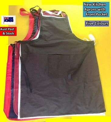 NEW Kitchen Aprons with Front Pocket - 5 colours available (Brand New)
