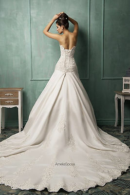 New White/Ivory Lace Wedding Dress Bridal Gown Custom Size:6 8 10 12 14 16 18+++