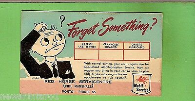 #g. Mobil Postcard -  Red Horse Service Station, Monto, Qld - Forget Something
