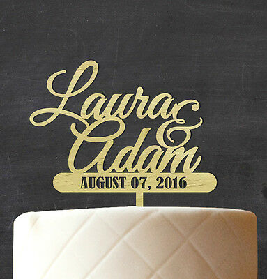 Custom Wedding Cake Topper Personalized Rustic Wooden Cake Topper CakeDecoration