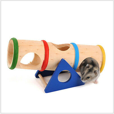 New Hamster Toys Seesaw Rat Swing Mouse Harness Wooden Hanging Ladder Bridge