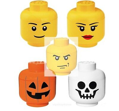 Lego Storage Head Small Boy Girl Skull Pumpkin Angry LEGO STORAGE HEAD SMALL