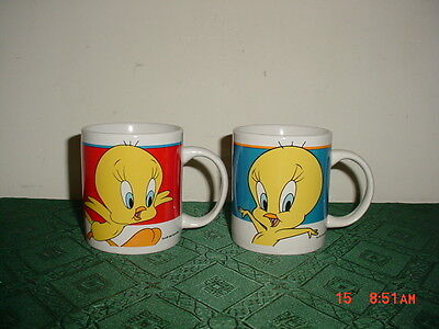 "2-Piece Warner Bros/looney Tunes ""tweety Bird"" Coffee Mugs/1998/clearance!"