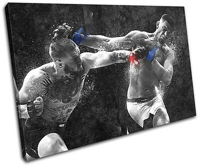 Conor Mcgregor Nate Diaz UFC MMA Sports SINGLE CANVAS WALL ART Picture Print