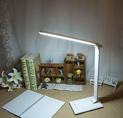 Dimmable Led Table Desk Bedside 4 Colour Modes Home Office Lamp Light White 9W