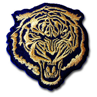 56fa815f529d2 Tiger Head Gold Patch Iron On Panther Sew Biker Tattoo Animal Sport Punk  Rock MC