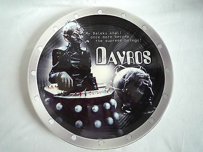 """Doctor Who / Bbc / Davros 8"""" Collectors Plate / Limited Edition Of 2000"""