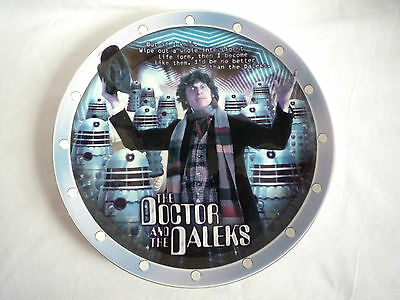 """Doctor Who / Bbc / The Doctor & The Daleks / 8"""" Collectors Plate Limited Edition"""