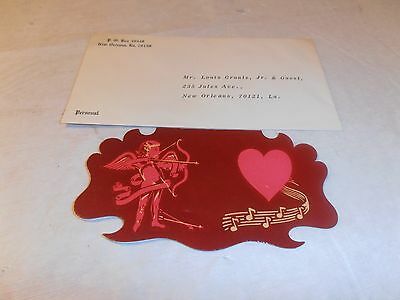 Vintage Old 1964 Krewe Of Carrollton Invitation W/env Mardi Gras New Orleans La.