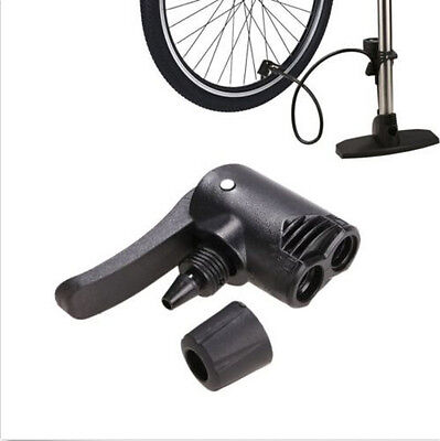 Tyre Tube Valve Foot Hose Pump Replacement Bicycle Track Adaptor Dual Head Spare