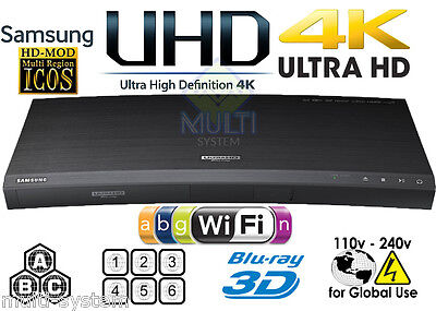 SAMSUNG UBD-K8500 4K Region Free DVD & BD ZONE ABC Blu-Ray Disc Player 3D WIFI