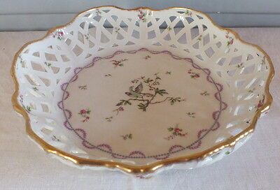 Haviland coupe porcelaine de Limoges ajourée filet or