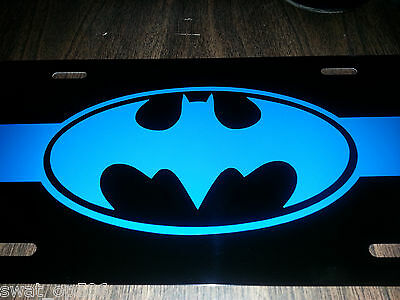 Thin Blue Line- BATMAN inspired License Plate- Top Quality!  Awesome!  FOP PBA