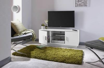 """Lima High Gloss Tv Stand White Entertainment Unit Cabinet Suitable Up To 55"""""""