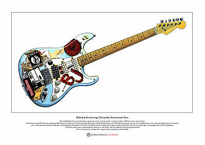 Billie-Joe Armstrong's 'Blue' Limited Edition Fine Art Print A3 size
