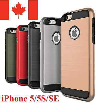 For iPhone SE 5S 5 Case - Dual Layer Hybrid Shockproof Protective Hard Cover