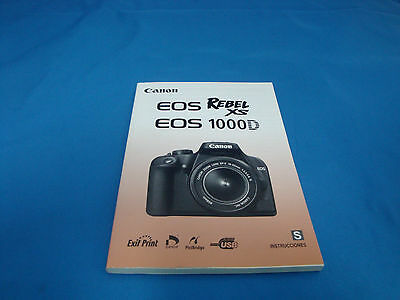 spanish canon eos 300d rebel digital camera instruction manual book rh picclick com Canon EOS 1100D Sample Canon EOS 1100D Specs