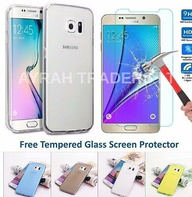Tpu Gel Case + Tempered Glass Screen Protector For Samsung Galaxy J3 2017 A3