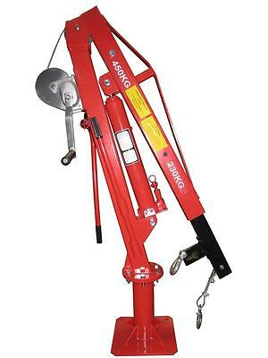 450KG Galvanised Swivel Crane Hoist Workshop Garage Floor  PART NO = CRSC1TWGAL