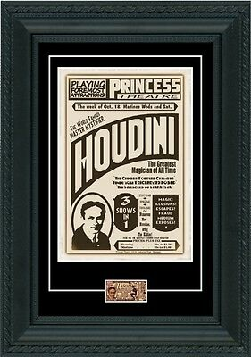 Harry Houdini 1926 POSTER + TICKET Montreal 8 days before death magic magician