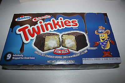 9 x Hostess Chocodile Twinkies Individually Wrapped Cakes 369g box