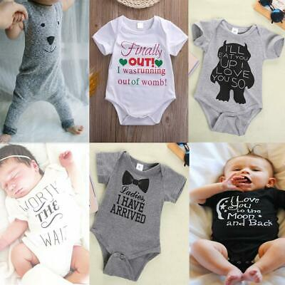 Newborn Baby Girl Boys Jumpsuit Rompers Outfits Toddler Summer Clothes One-Piece