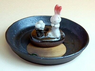 ARITA-WARE Porcelain Japanese Saucer ornament moon viewing MADE in JAPAN SR002