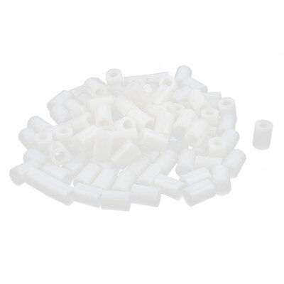 100 Pcs ABS Cylinder LED Spacer Holder Support M4.2 x 10mm Off-White