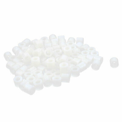 100 Pcs ABS Cylinder LED Spacer Holder Support M4.2 x 6mm Off-White