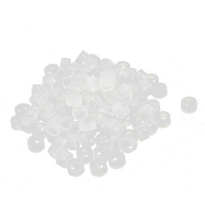 100 Pcs Nylon Cylinder LED Spacer Holder Support 3mm x 2mm Clear