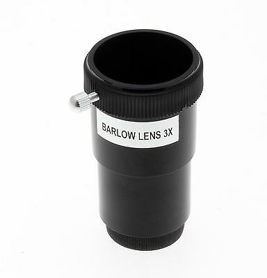 Optical Hardware 3x Barlow Lens for Astronomy Telescope / 1.25 in