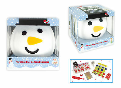 Novelty Family Game Pass The Parcel Snowman Party Game With 8 Gifts