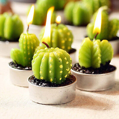 Cactus Candles for House Decoration Birthday Wedding Scented Craft candles HOT