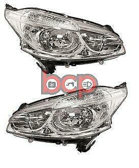 Peugeot 208 2012 - 2015 Headlights Headlamps  Pair Left And Right Non Led