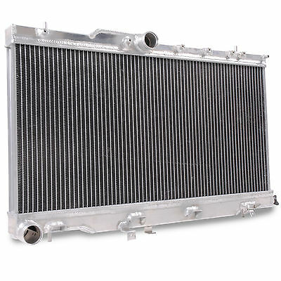 Aluminium Twin Core Alloy Race Radiator Rad For Subaru Impreza Bugeye 2.0 Wrx