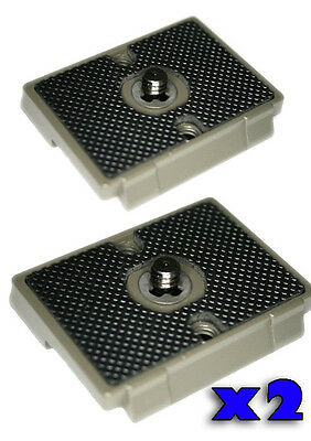 2x Quick Release Tripod Plates - Manfrotto QR 200PL-14 fitting - Metal