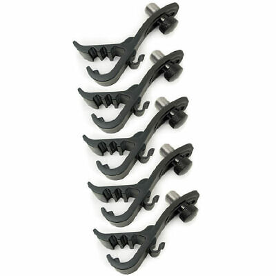 5 X Drum Microphone Clips Claws Clamps Mounts 5 Year Warranty DP Stage DPS-50D