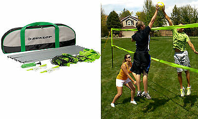 Dunlop Volleyball Portable Set Sports Game with Net Ball Nylon Carry Bag Pump