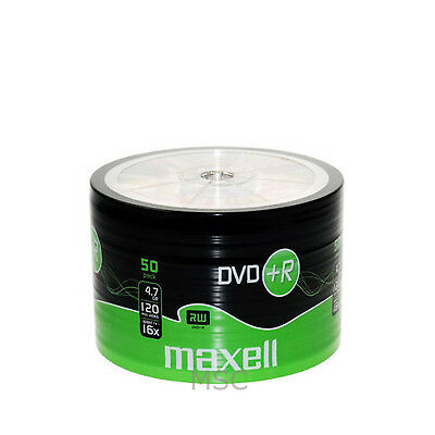 Maxell DVD+R 50 Pack Shrink Pack 16x 4.7GB Blank DVDs Media Disks