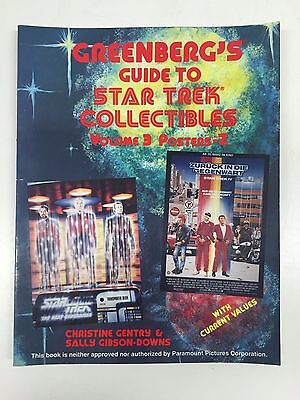 Vintage Greenberg's Guide To Star Trek Collectibles, Volume 3 Posters-Z (1992)