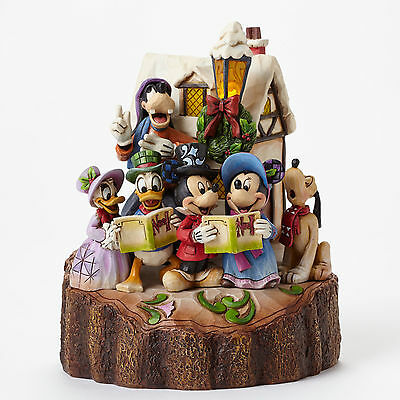 Jim Shore Disney Traditions Mickey Minnie Mouse Carved Holiday Harmony 4046025