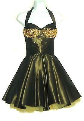 1950's 1960's Vintage Dancer's Halter Dress Cigarette Girl