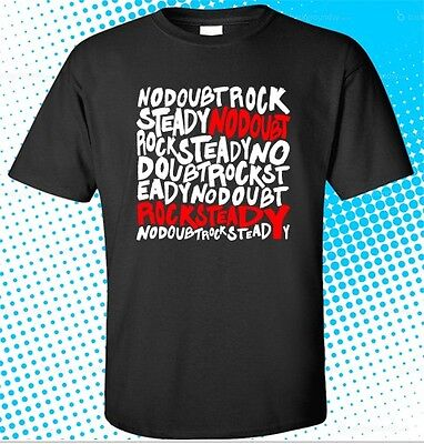 New NO DOUBT Rock Steady American Rock Band Men's Black T-Shirt Size S to 3XL