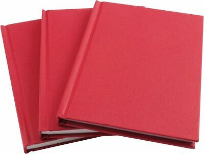 Hardback Red Manuscript Book Ruled Notebook (Feint or Index) 96 Pages A4/A5/A6
