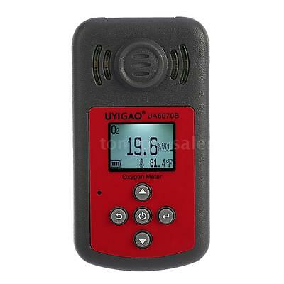 Handheld LCD Oxygen O2 Gas Detector Tester Monitor Range 0-25% w/Alarm X7P2