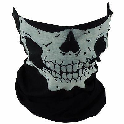 2 X Skull Mask Bandana Motorcycle Scarf Face Neck Warmer GHOSTS HALLOWEEN